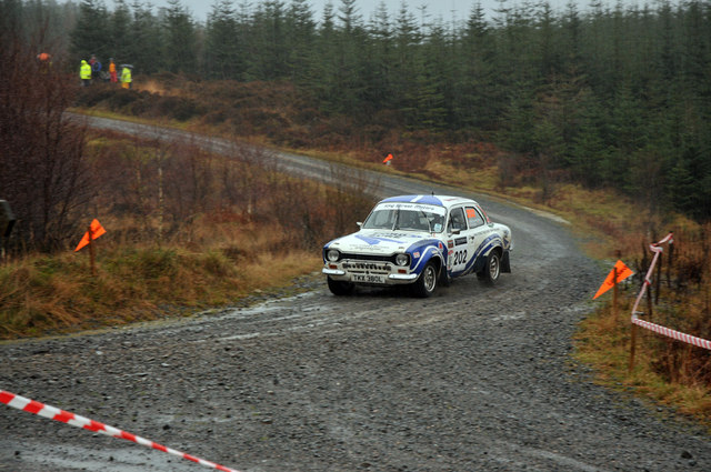 Rally car in Grizedale Forest