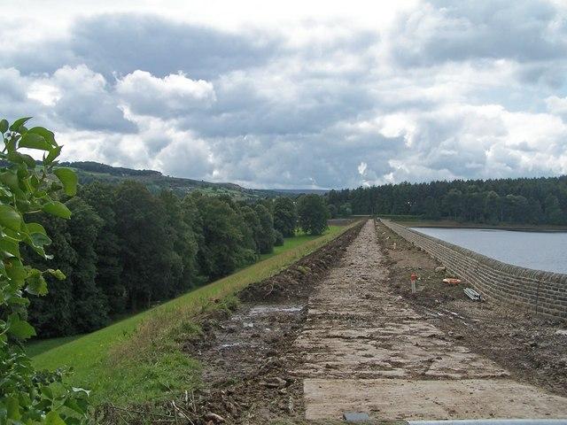 Reservoir Repairs, Agden Reservoir, near Low Bradfield - 1