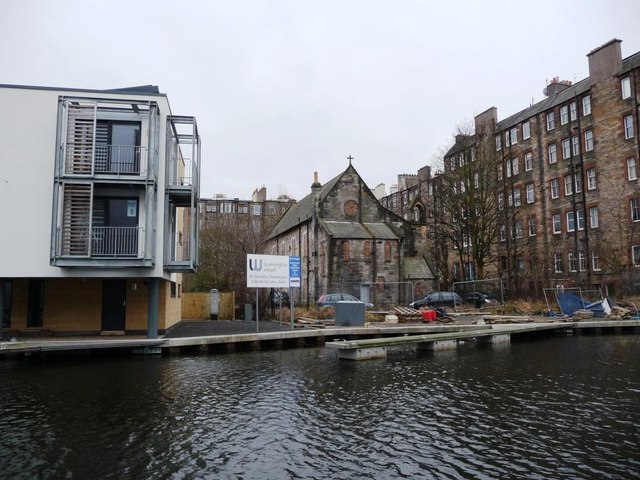 A Leamington Wharf townhouse, a boarded-up church, and homes on Viewforth