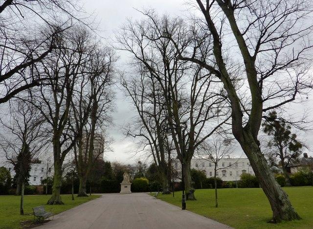 Tree-lined avenue, Montpellier Gardens, Cheltenham