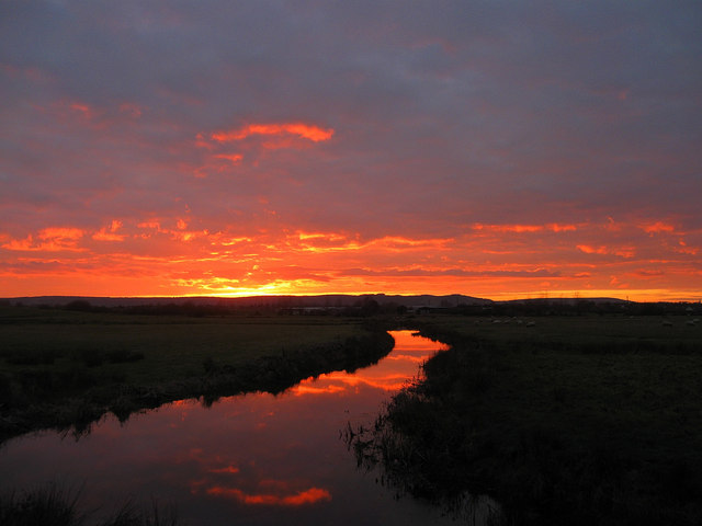 Mill Ditch at Sunset (1)