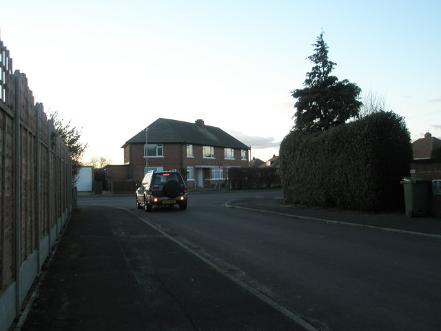 Looking along Castle View Road towards Bayly Avenue