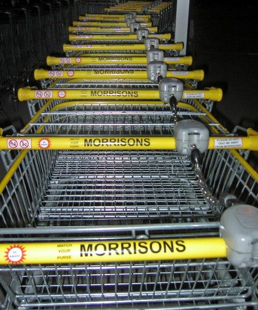 Morrisons supermarket trolleys Cortonwood