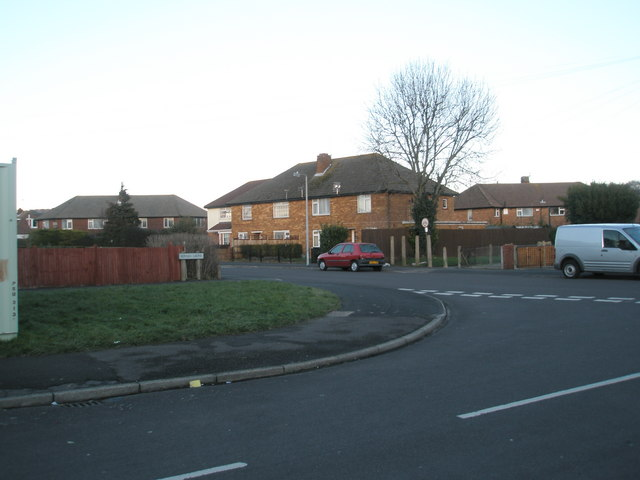 Looking from Roman Grove into Bayly Avenue