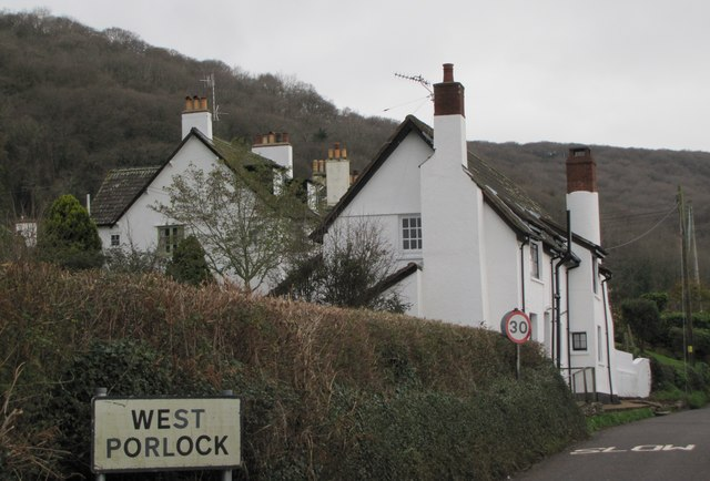 Entering West Porlock