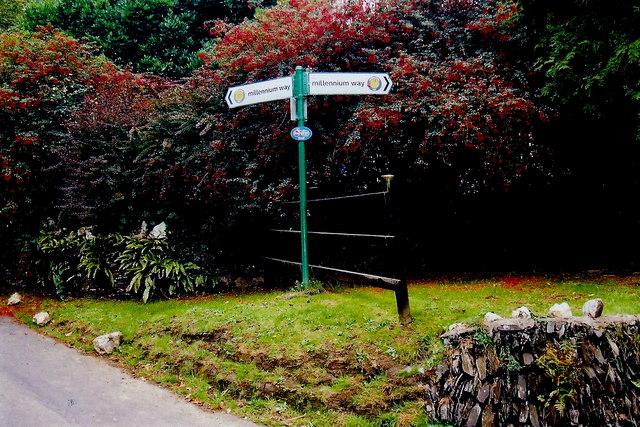 Silverdale Glen - Millennium Way marker