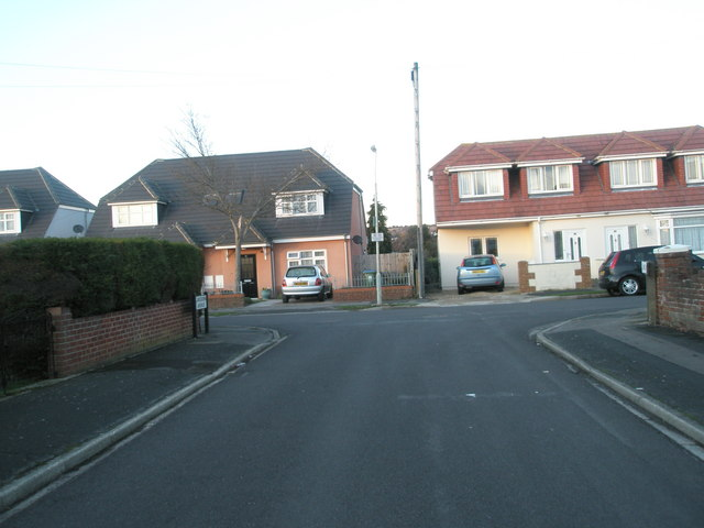 Looking from Lansdown Avenue into Merton Crescent