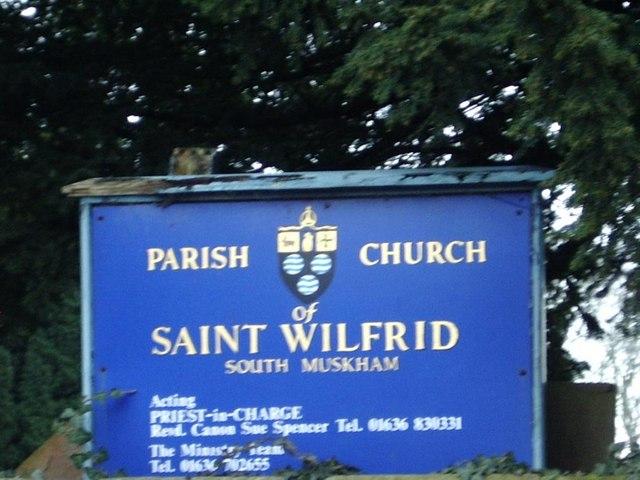 Sign of Parish Church of St Wilfrid, South Muskham