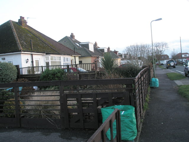 Garden rubbish out for collection in Merton Avenue