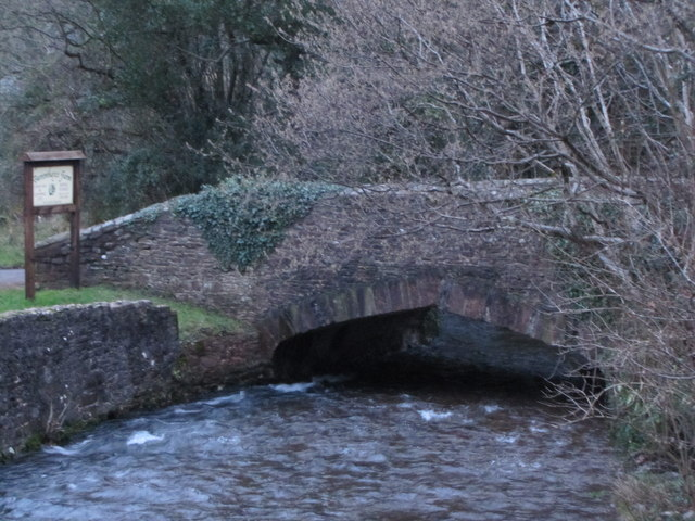 Bridge over Horner Water, West Luccombe