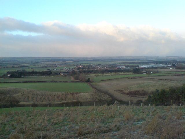Looking from Sherburn Brow towards Sherburn