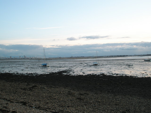 Boats on the beach at Portchester