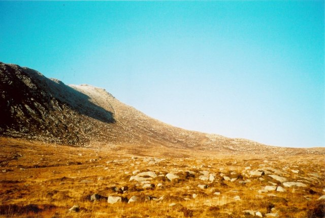 Across Coire nam Meann to Goatfell