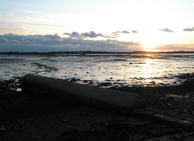 Portchester Beach at sunset