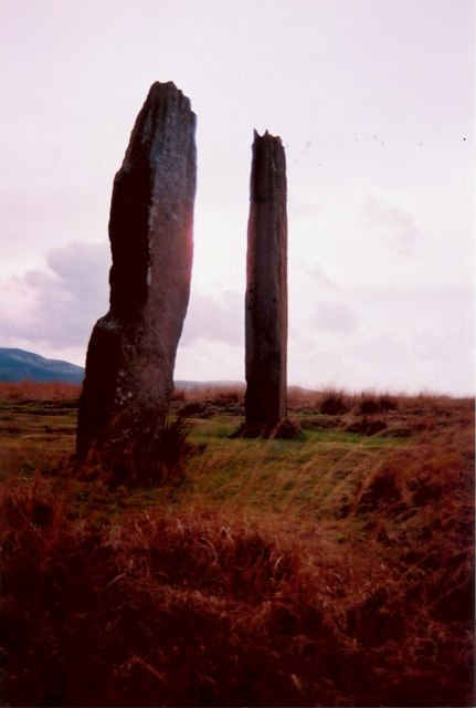 Two tall stones on Machrie Moor