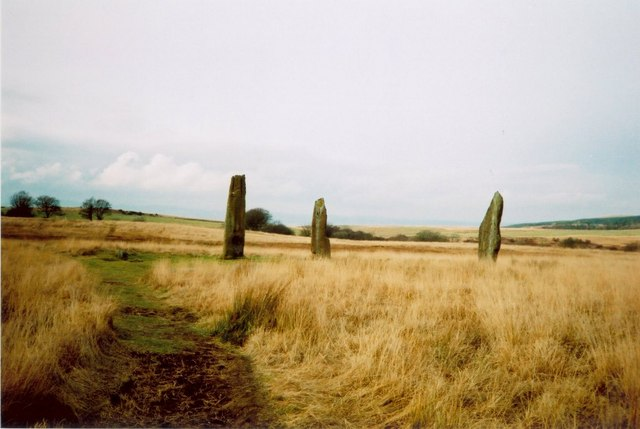 The main stone circle at Machrie Moor