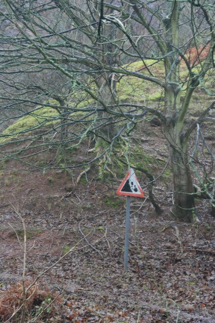 Warning sign, Disused quarry, Bicknoller Combe