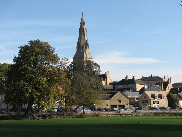 Stamford from the Meadows, early autumn