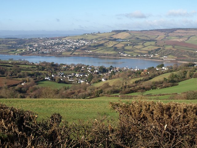 Ringmore and the Teign estuary from Commons Lane
