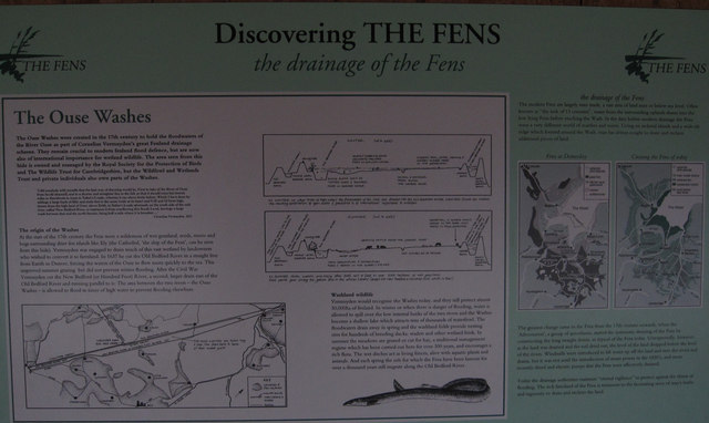 Ouse Washes information board