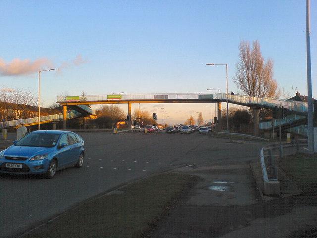 Footbridge over the East Lancs Road