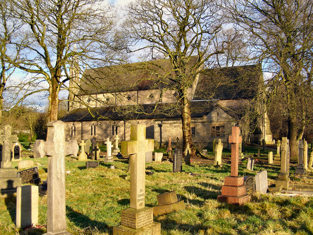 St Saviour's graveyard and Church, Ringley