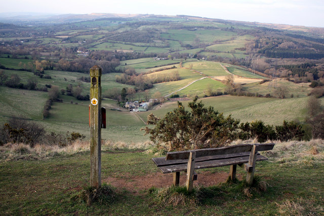 Cotswold Way - Bench on Wistley Hill
