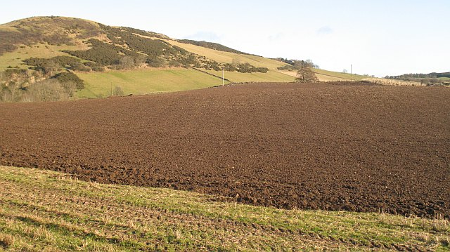 Ploughed field by Dundriven