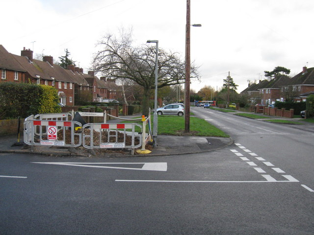 Gas works in Queen Mary Avenue