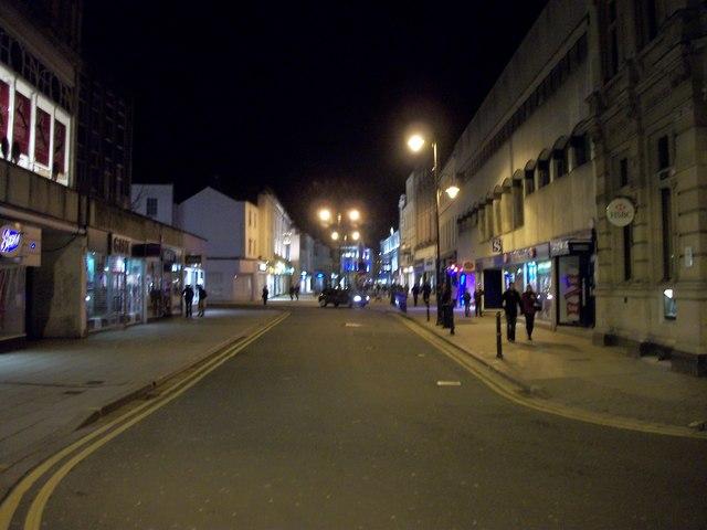 Cheltenham High Street By Night