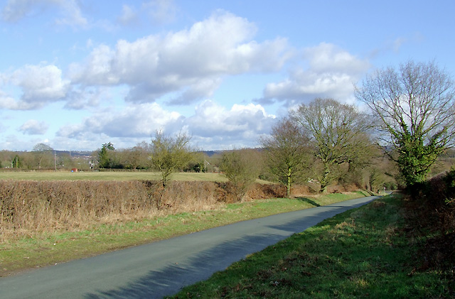 New Road and fields at Smestow, Staffordshire