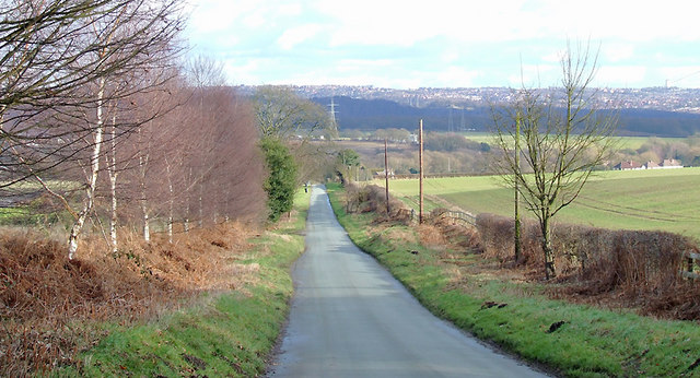The lane to Smestow, Staffordshire