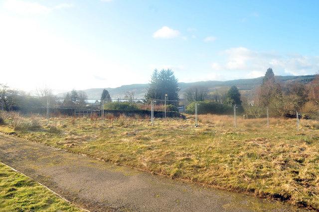 Marshy ground outside Hospital Residences