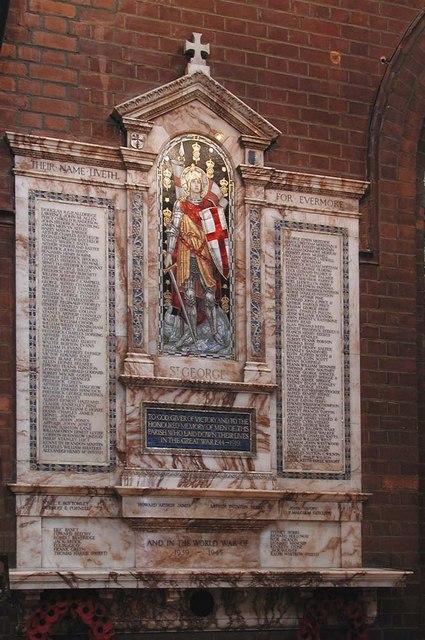 St Luke, Ramsden Road, London SW12 - Memorial WWI & WWII