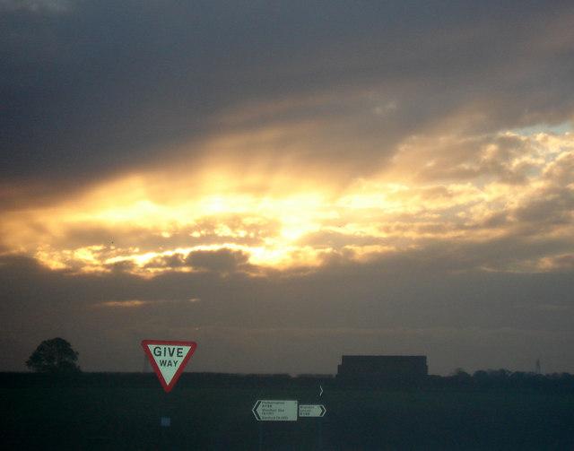 Sunset over Potterhanworth Heath
