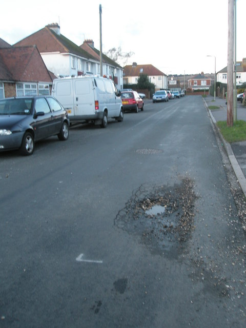 Pothole in Grove Avenue