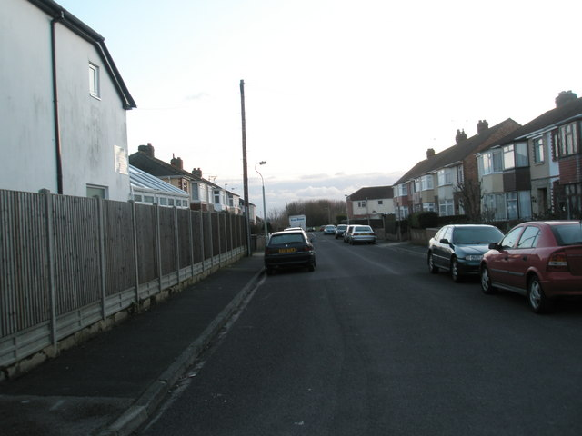 Looking southwards down Coppins Grove