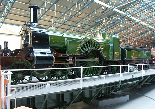 Stirling No. 1 on the NRM turntable
