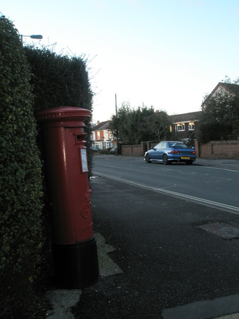 Postbox at the junction of Marina Grove and White Hart Lane