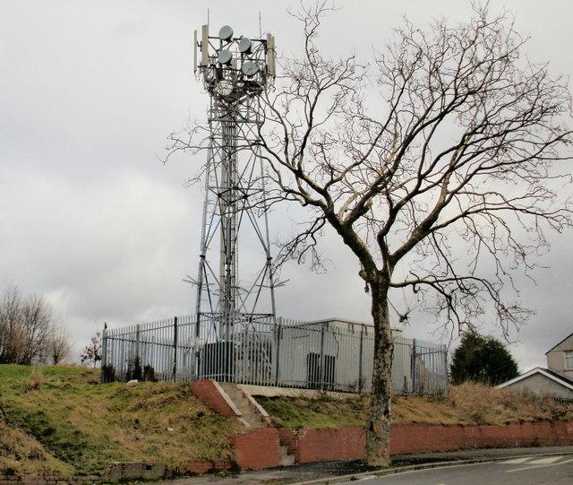 Mobile phone mast, Libeneth Road, Newport