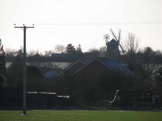Fulbourn Windmill from afar