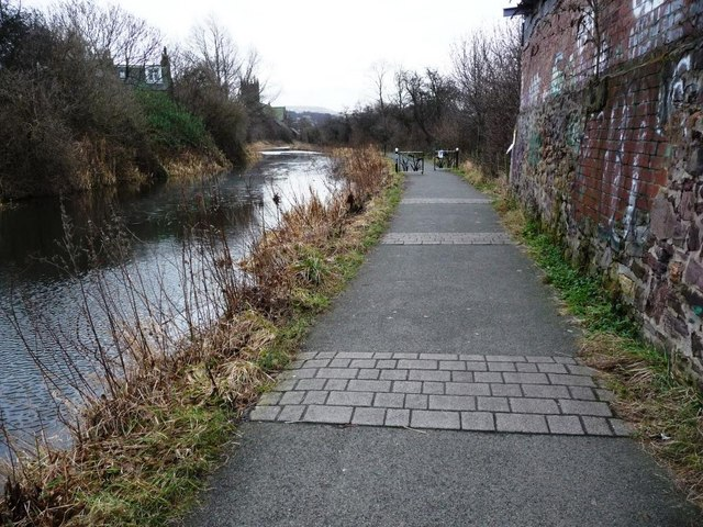Speed bumps on the Union Canal towpath