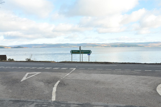 Junction of the A83 and the B8024 road to Kilberry