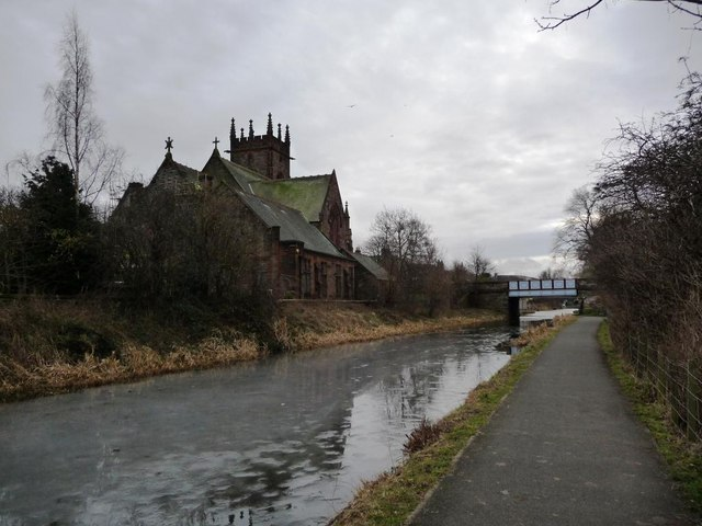 Union Canal, north-east of the Harrison Road bridge
