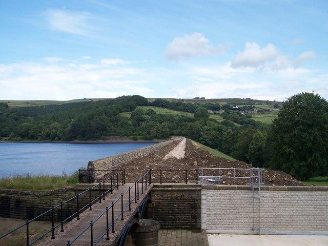 Reservoir Repairs, Agden Reservoir, near Low Bradfield - 2