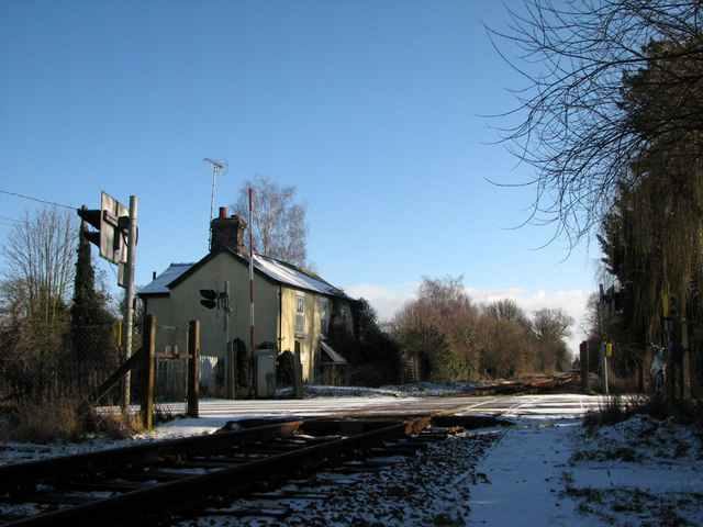 Fulbourn: Teversham Road level crossing
