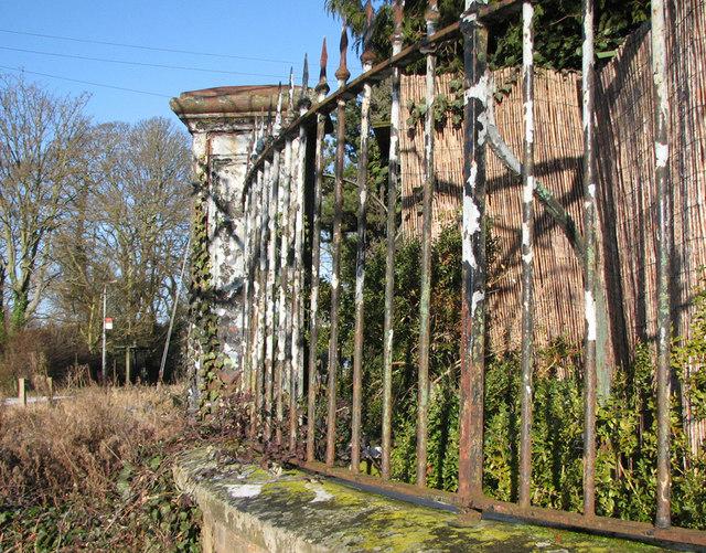 Fulbourn: a cast-iron gatepost