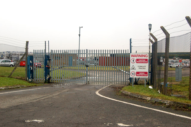 Entrance to trading estate near Hardwicke, Glos