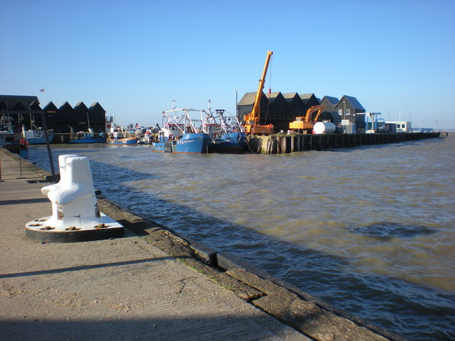 Fishing boats in Whitstable Harbour