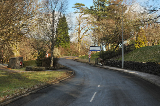 Main entrance road into Argyll and Bute Hospital